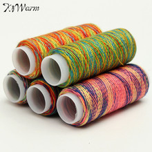 5Pcs/pack Rainbow Color Sewing Thread Hand Quilting Embroidery Sewing Thread for Home DIY Sewing Accessories Supplies Gifts(China)