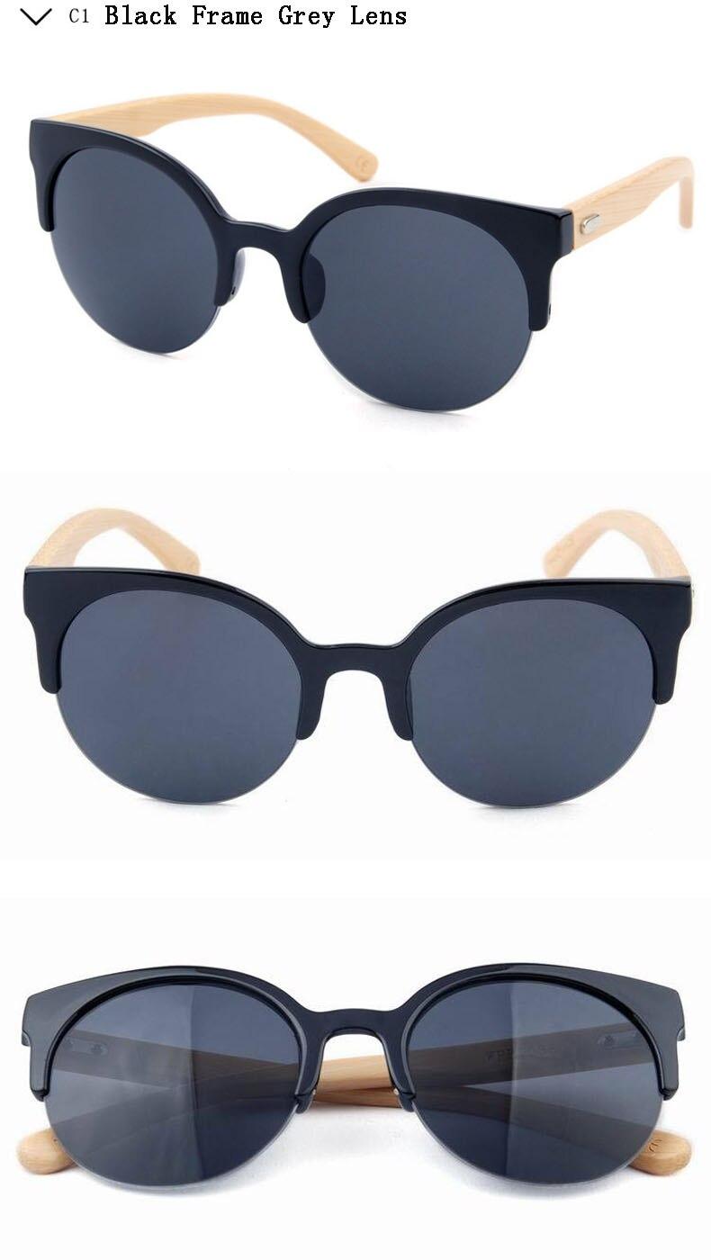 2018 Arrival Fashion UV400 Wooden legs Sun Glasses Men/Women Sunglasses Round Brand Design Driving Glasses Goggle Ladies Vintage
