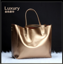 Women's Genuine Leather Casual Shoulder Bag European Style Winter Genuine Leather Handbag  Wholesale