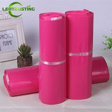 Leotrusting Hot Selling Pinkish Poly Mailing Bags Color Express Packaging Envelope Bag Mailer Plastic Garments Shipping Bags(China)