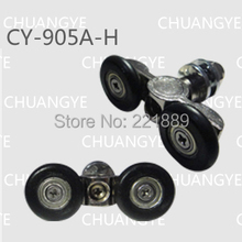 Economy and high quality nylon sliding door shower pulley