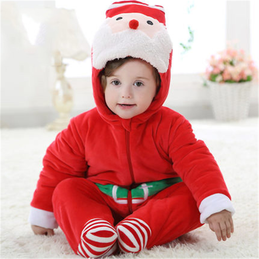 Christmas Baby Romper Winter Clothing Sets Roupa Bebes Newborn Baby Clothes Winter Baby Clothes Infant Jumpsuits 70Z2054<br>