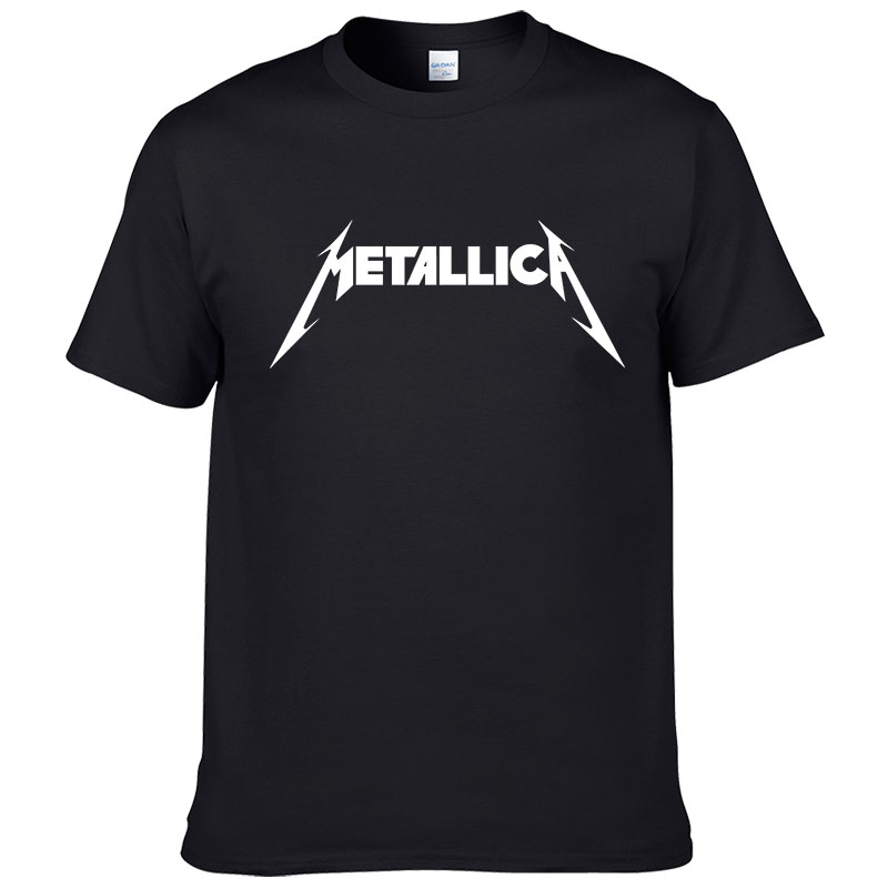 Metallica hard metal rock band Men's T-Shirt T Shirt For Men Short Sleeve Cotton Casual Top Tee Camisetas Masculina #199(China)