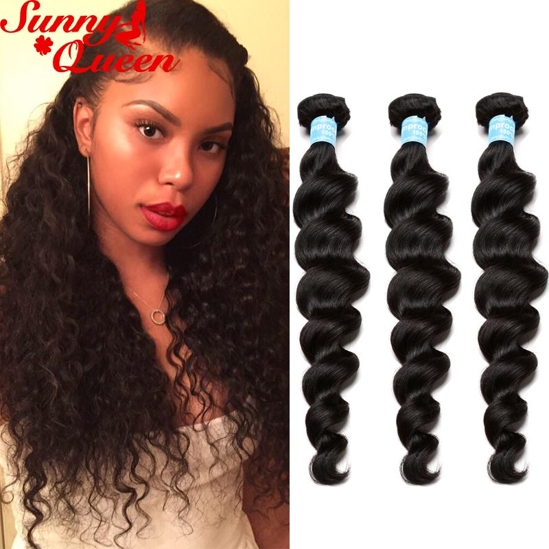 8A Indian Curly Virgin Hair Loose Wave Unprocessed Human Hair Extensions 3Pcs Indian Loose Curly Hair Natural Black Hair Weaves<br><br>Aliexpress