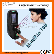 ZK hot sale time attendance TCP/IP usb host communication Multibio700 face and fingerprint door lock access controller(China)