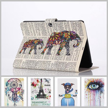 Stained Case For samsung galaxy tab 3 10.1 New Arrival Color Mix PU Leather Flip case Stand Cover For samsung tab 3 10.1 P5200(China)