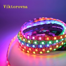 RGB WS2812 led strip 50cm 1m 2m 3m 5m full color 15 30 144 leds DC 5V waterproof dream color changing led strip
