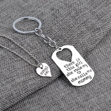 2016 hot new fashion chain sets of family members simple trend Mom and Dad daughter keychain necklace