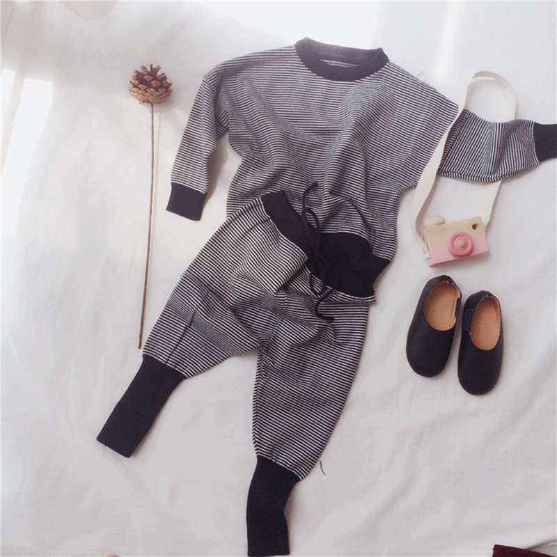 Children 2 to 6 years of age set children boys and girls sweater coat pants fall and winter baby pants cotton knitted garments<br><br>Aliexpress