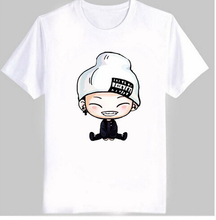 VXO Fashion New Men's Women's  kpop t shirt ikon cute cartoon comic images print bobby B.I t shirt women  cotton t-shirt