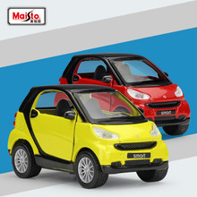 Maisto/Pull Back Diecast Toy Car/Smart Fortwo/Educational Model For Children/Gift/Collection