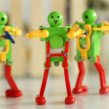 New Classic Wind Up Toys Children Kids Plastic Clockwork Spring Wind-Up Dancing Robot Toy Gifts Random color BM88(China)
