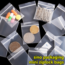 100 pcs/lot Free Shipping Mini Zip lock Bags Plastic Packaging Bags small Plastic zipper bag ziplock bag ziploc(China)
