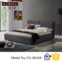New antique fabric bed solid wood frame bed,Wooden Furniture Beds,china bed(China)