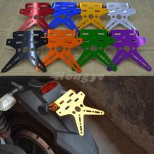 Universal Motorcycle Adjustable Number License Plate Mount Holder Registration Number Plate For Yamaha Honda Kawasaki Suzuki(China)