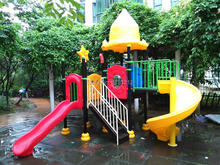 Mini Outdoor Plastic Slide CE Certified Children Playground Set Anti-rust Entertainment Facilities Top Quality