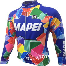 2017 Mapei jerseys winter Self-cultivation Best quality maillot ciclismo bike cycling Outdoor sport pro Bike clothes mtb team(China)