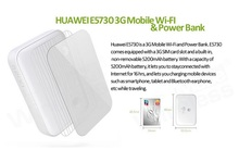 HUAWEI E5730s Mew King 3G Portable Wireless Wifi Router Fixed Line Dual Access Hotspot Wi Fi Repeater 5200 mAh Power Bank Supply(China)