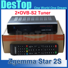 1pc cheapest Original Zgemma-star 2S dvb-s2+s2 tuner twin tuner digital tv receiver zgemma star 2S free shipping by DHL