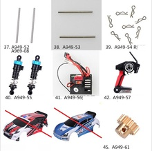 1 Set Upgrade Parts Kit For Wltoys A949 A959 A969 A979 K929 K929-B 2.4G 4WD Electric RC Car receiver remote controller Part