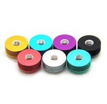 E-XY 3PCS E Cigarette Metal round Colorful 510 Heat Dissipation Heat Sink mulit colors for 22mm RDA Atomizers Mod
