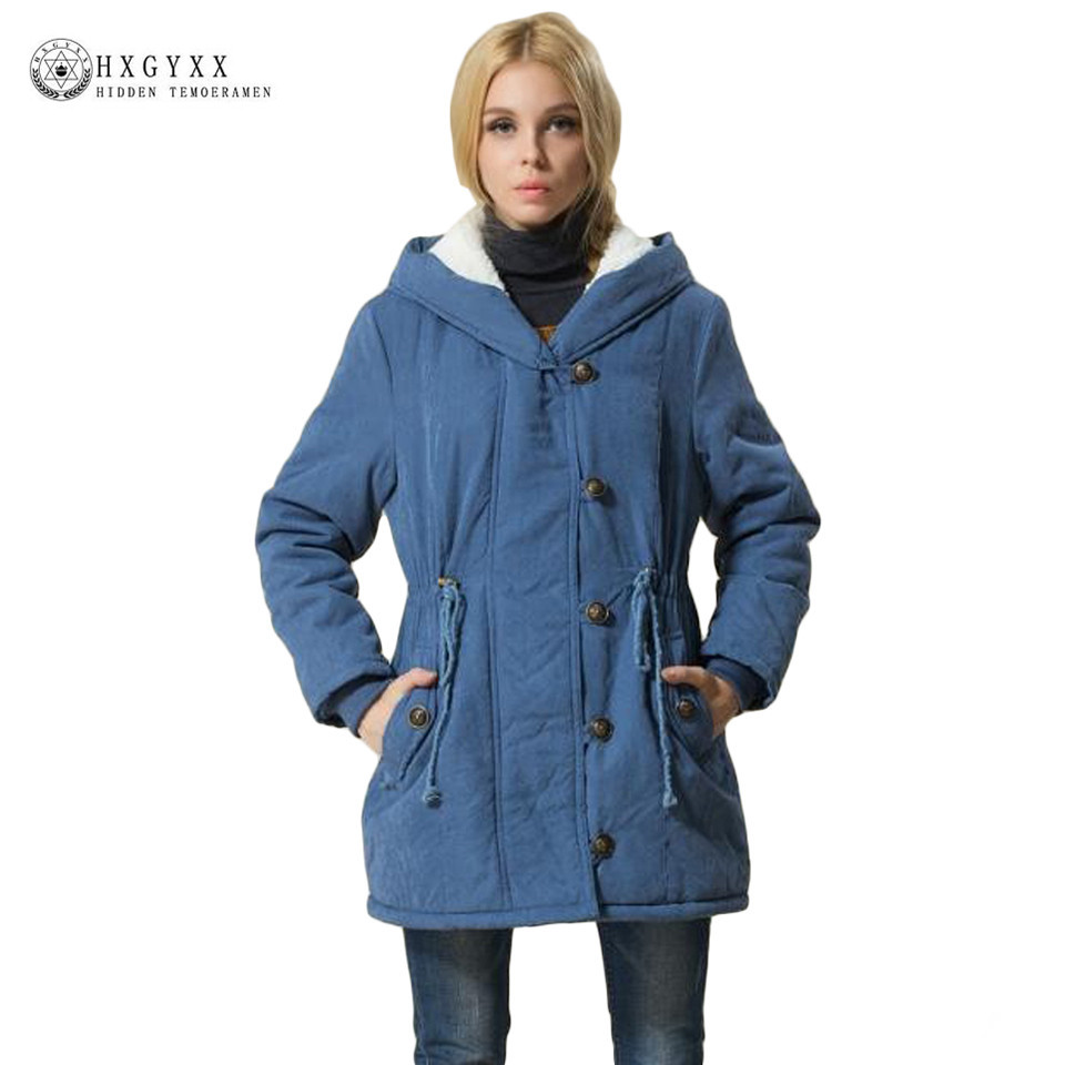 Latest Korean women winter coat warm cotton coat solid color elegant casual large size loose hooded women jacket G0633Îäåæäà è àêñåññóàðû<br><br>