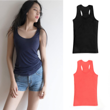 1PC Hot Sale Women's Sexy Wild Vest Sleeveless Solid Tank Tops Cami No Sleeve T-Shirt Vest Basic Clothing Accessories Free Size(China)