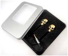 Stylish Creative Skull Earphones Halloween Gifts with Exquisite packaging for Friends kids 3.5mm Music Earbuds(China)