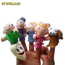 UTOYSLAND 8PCS/Set Fairy Tale The Enormous Turnip Finger Puppets Storytelling Doll Educational kids baby Toys