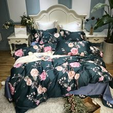 Pastoral style Bedding Set Kid Girls Adult Linen Soft Duvet Cover Pillowcase Bed Sheet Queen king size egyptian cotton bed set(China)