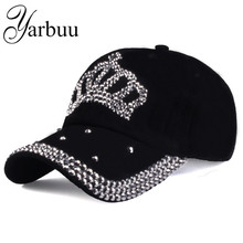 [YARBUU]Baseball caps 2016 new fashion style men and women's Sun hat rhinestone hat denim and cotton snapback cap Free shipping(China)