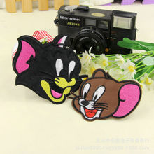 Cartoon Tom Cat Mouse Embroidered Patches For Girls Boys Iron On Clothes Patches For Clothing(China)