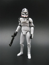 3.75 inches Star Wars Clone Trooper TCW CW Pilot Matchstick Loose Complete Action Figure (bulk )