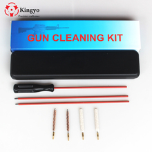 Hunting Gun Rifle Cleaning Kit For .177&.22&.25 (4.5mm&5.5mm&6.35MM) Brush Cleaner Rod For Rifle Scope Pistol Shotgun