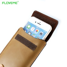 FLOVEME Three Color Wrist Clip Case For iPhone 6 6S 7 Plus 5 5S SE Metal Ring Handle Cover Case For Galaxy S6 S7 Edge Waist Bag
