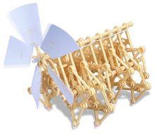 wind energy Educational toys Walking monsters DIY Creature Puzzle Wind Powered Walker Strandbeest Assembly model Kits Toy
