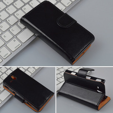 Crazy Horse Leather Case For Sony Xperia U ST25i Wallet Cover with ID Card Slots and Stand 4 Colors in Stock