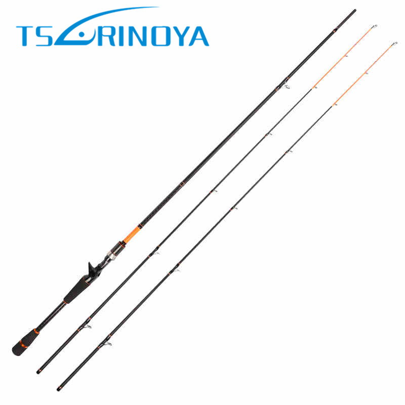 Tsurinoya 2 Tips Baitcasting Fishing Rod 2Section 2.1m/2.4m Power:M and ML Carbon Lure Rods Bass Pesca Stick Fishing Tackle<br>