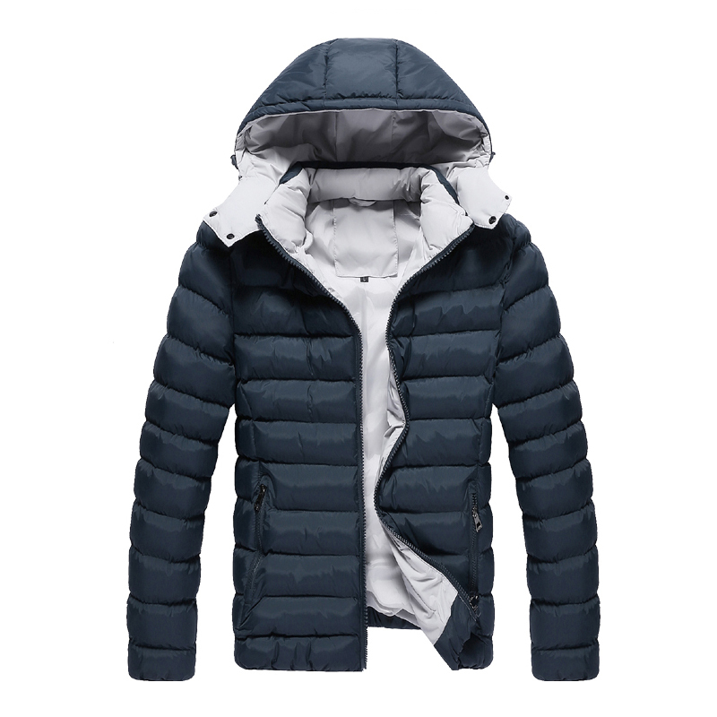 Hot Men's Clothing Winter Jacket Men Thickening Male with Hood Wadded Warm Jacket Thermal Coat Large Size 5xl m35
