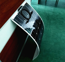 The latest design of solar panels, 100w semi-flexible solar panels produced by mono solar cell