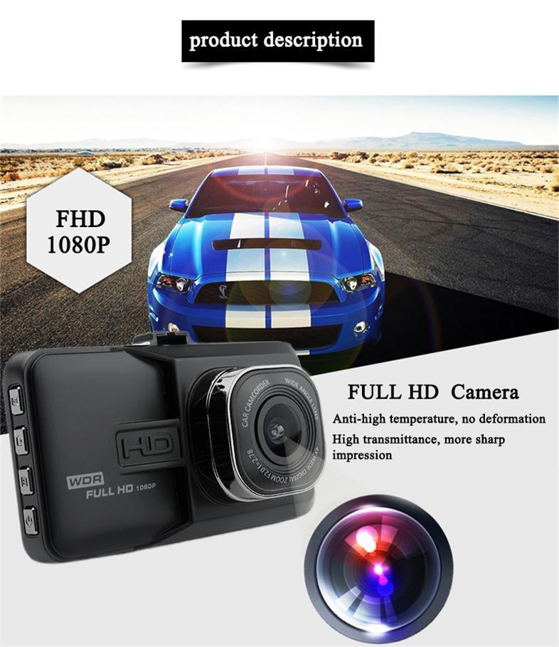 17 Registrar Car Camera DVR 1080P HD 1 Degree Dvr Black Box Car Mirror Camera Dual Camera Lens With Rear View Camera Dashcam 1