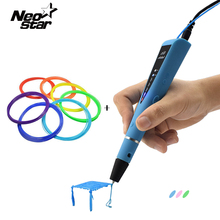 DIY 3D Printer Pen For Kids Model With 70M ABS Filament Arts 3d Pens Gift For Kids Drawing Tools Birthday Education Toy