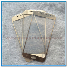 100pcs/lot Gold LCD Front Outer Glass Lens for Samsung Galaxy S6 S7 G9200 G9300 Touch Screen Cover Repair Refurbished(China)
