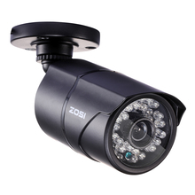 ZOSI 1/3 Color CMOS 1000TVL Bullet CCTV Camera HD Indoor/Outdoor 36 IR Leds Day/Night Security Home Video Surveillance Camera(China)