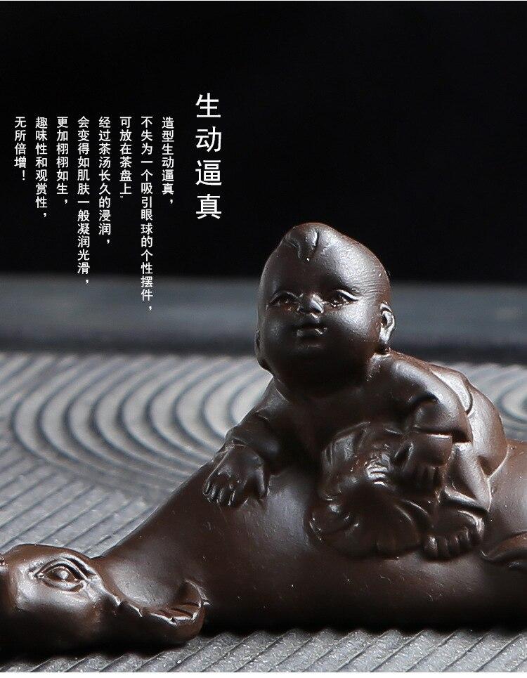 SET 4 STÜCKE Mini Mönch Buddha Statue Tee Pet Zen Garten Tee Tablett