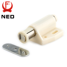 5pcs NED Cabinet Catch Kitchen Door Stopper Soft Quiet Close Magnetic Push to Open Touch Damper Buffers For Furniture Hardware(China)