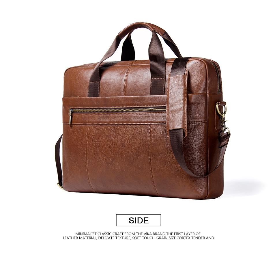 """حقيبة لابتوب من الجلد الطبيعي لرجال الاعمال 15.6"""" 8"""