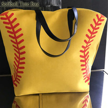 Canvas Softball baseball Tote bag!Personalized and ready for those ballfield days!