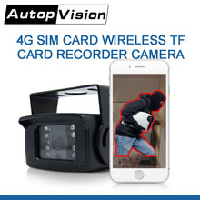 WF4G5 4G SIM Card wireless TF Card Storage Recorder MINI 720P 1080P Outdoor P2P View Camera for trucks buses Taxi vehicles(China)
