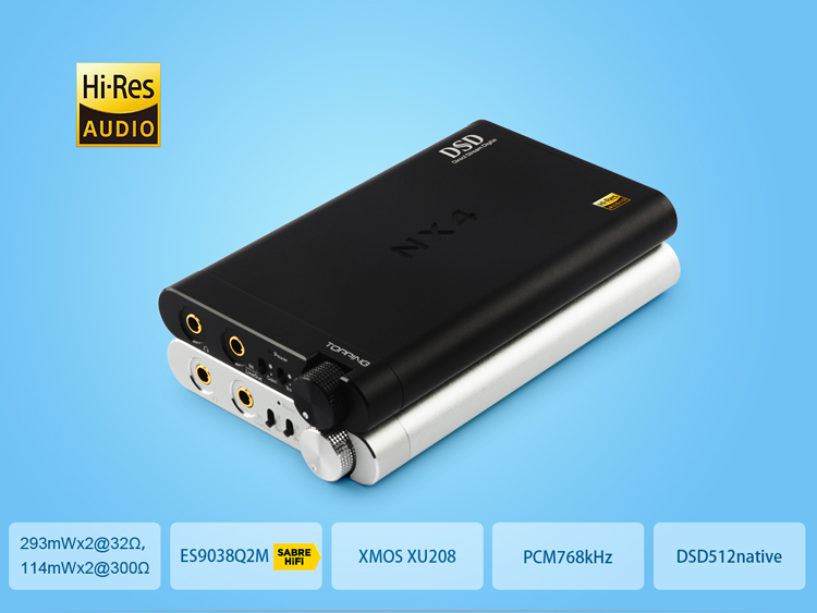 TOPPING NX4 DSD Fever HiFi Portable USB DAC Decoder Headphone Amplifier 1